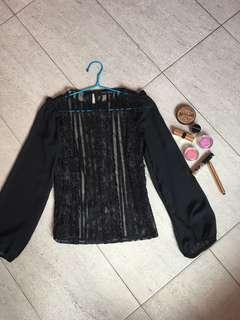 Dorothy Perkins Lacey black top