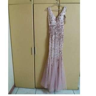 PINK MERMAID LONG GOWN