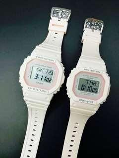 PEACH COUPLE GSHOCK WATCH