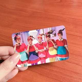 red velvet the red album with group photocard