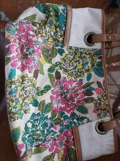 *FREE DELIVERY* 2 Bags Floral & Turquoise Blue Bag with Tussel