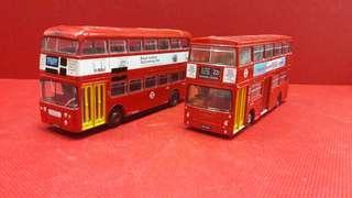 巴士模型  罕有中古  EFE 1:76 合金黃色門系列巴士