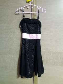 Black&Pink Lace Dress