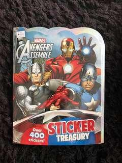 Spider-Man draw colour and create sticker book and avengers assemble sticker book