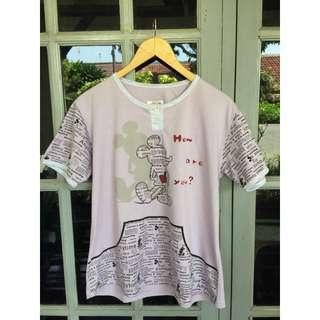 Kaos mickeymouse fit to L