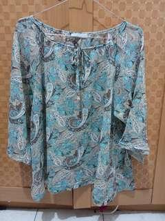 blouse flower , baju motif bunga ,