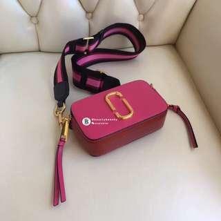 U.S STOCK CLEARANCE Marc Jacobs Snapshot Camera Bag - pink