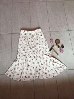 Dotted ribbon skirt