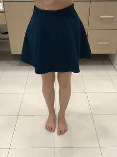 F21 Detailed Bluegreen Skirt