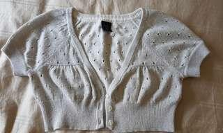 Gap girls mini silver cardigan