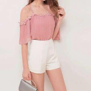Off Shoulder Top (Pink)