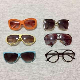 百元有找復古造型墨鏡眼鏡老物vintage