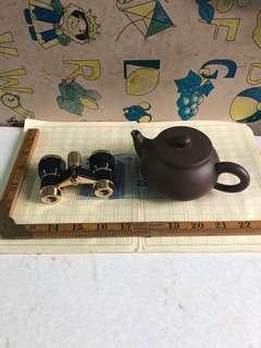 紫砂茶壺加精美望遠鏡冇破損