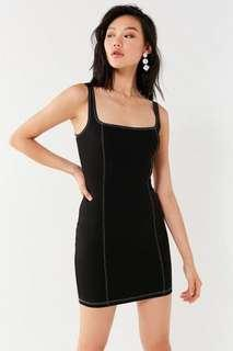 Urban outfitters contrast stitch black dress!!!