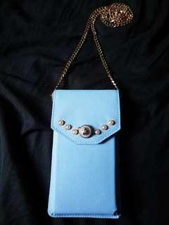 KATIE JUDITH天鵝湖藍珍珠電話袋