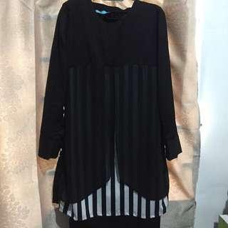Baju kurung moden hitam