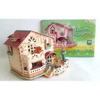 MAINAN ANAK PUZZLE 3D HOLIDAY BUNGALOW
