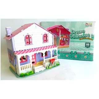 MAINAN ANAK PUZZLE 3D CARRIE HOUSE