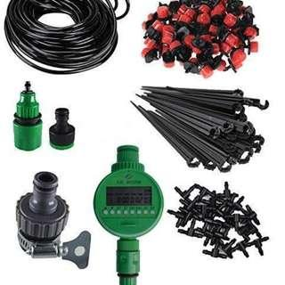Micro Drip Irrigation System Plant Self Water Timer Garden Hose ~ 5m - 25m