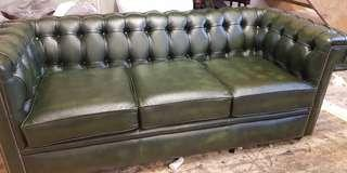Genuine leather  sofa from England