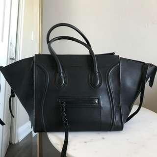 Authentic Celine Phantom Luggage Black Tote