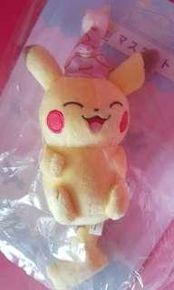 ❤AUTHENTIC BRAND NEW IN PLASTIC (Clean)❤🌻LIMITED EDITION🌻Pokemon Pikachu Bagcharm keychain Plush💋No Pet No Smoker CLEAN Hse💋