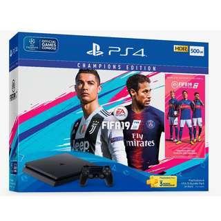 PS4 SLIM 500GB FIFA 19 ASIA BUNDLE SET CHAMPION ED