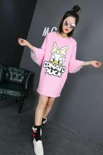 Pink Donald Duck - 2XL