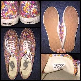 Authentic Vans Floral Sneakers