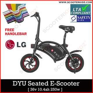 DYU Deluxe 10.4 ah LG Cell with FREE HANDLEBAR