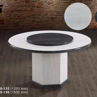 NEW FG901 ROUND MARBLE TABLE WITH 6 CHAIRS
