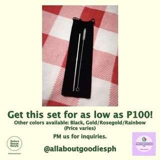 Affordable Metal Straw Sets