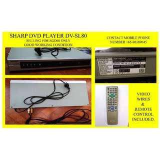 SHARP DVD PLAYER GOOD WORKING CONDITION!!! RARELY USED!!!