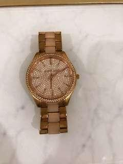 Michael Kors Swarovski crystal rose gold watch