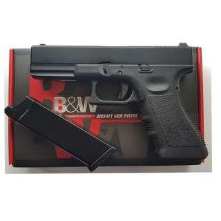 BOLD AND WARRIOR MODEL GLOCK 17 GBB AIRSOFT