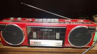 National FM 4-Band Stereo Cassette Radio Recorder FX-FM25
