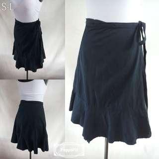 Navy Blue Skirt with Tie