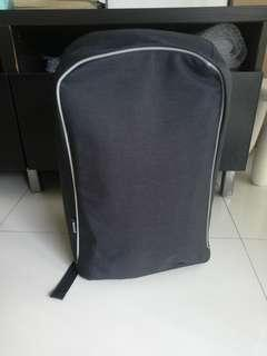 Anti-theft backpack w laptop sleeve and hidden compartments
