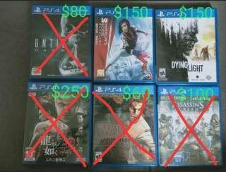 新淨PS4 game