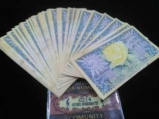 Uang kuno 5rupiah bunga