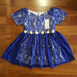 *RIJECT* DRESS BROKAT NAVY (5T)