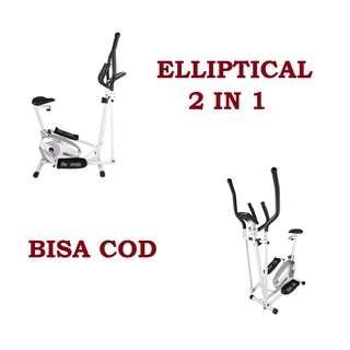 Sepeda Fitness Gowes Dirumah elliptical 2 in 1 NEW Termurah spt Kettler