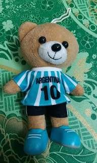 Toy football small bear with jersey