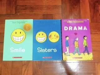 Smile, Sisters & Drama books