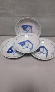 Vintage Fish Plates - 17cm