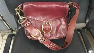 Authentic Coach Bleecker Leather Flap Hobo Bag