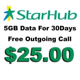 Starhub Prepaid 5GB Data