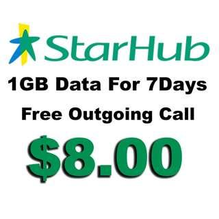 Starhub Prepaid 1GB 7days Data