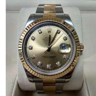 used Rolex Datejust Diamond 2 tone Gold - 116333