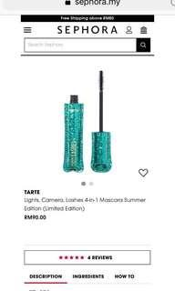 🆕Tarte Lashes 4-1 Mascara (Limited Edition)